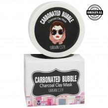 БХ Маска Для Лица Глиняно-Пузырьковая На Основе Угольного Порошка Urban City Carbonated Bubble Charcoal Clay Mask 100мл