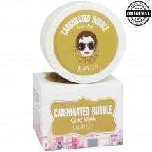 БХ Маска Для Лица Глиняно-Пузырьковая С Золотом Urban City Carbonated Bubble Gold Mask 100мл