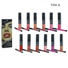 Блеск Nyx Super Clique Matte Lipstic Тон А, 12 цв