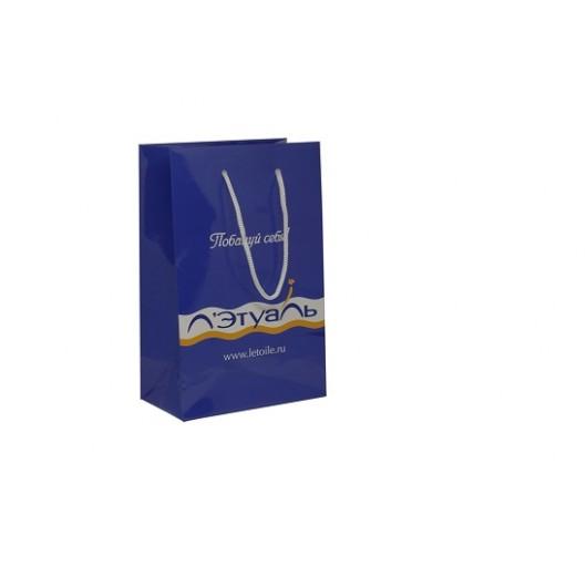 Пакет картонный Летуаль (маленький 25х15 см)